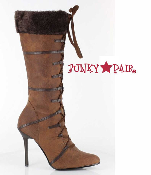 1031 Shoes | 433-Viking 4 Inch Boot With Fur Brown