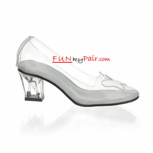 Funtasma CRYSTAL-103, Women's Clear Crystal Shoes