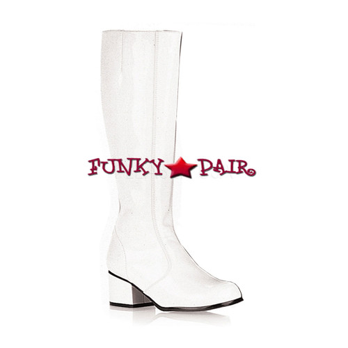 Go Go Boots 1960s White by Funtasma