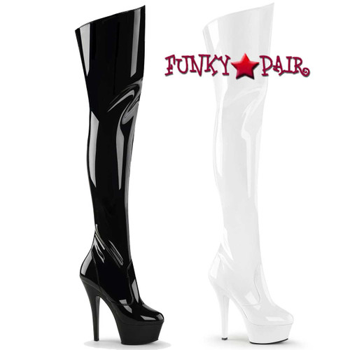 Pleaser | KISS-3010 Platform Thigh-high boots