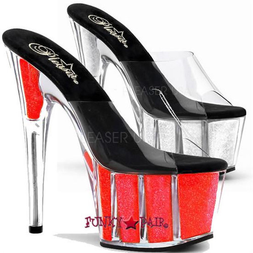 ADORE-701NG, 7 Inch Neon Glitter Sandal