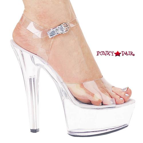 Ellie shoes 601-Brook, 6 Inch High Heel Stiletto Heel Ankle Strap