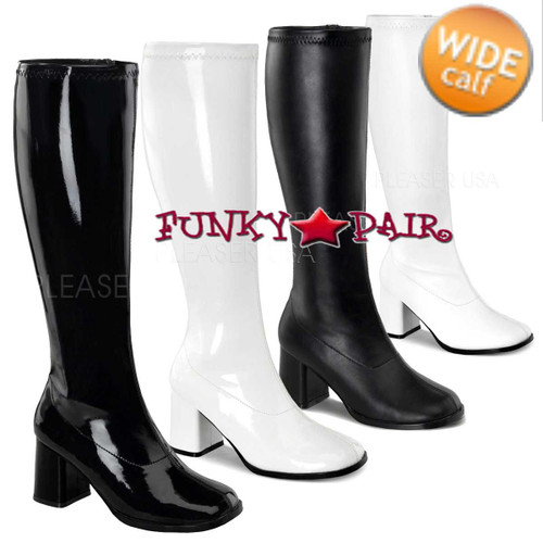 Funtasma | GOGO-300WC, Wide Calf Go Go Boots | Pleasaer