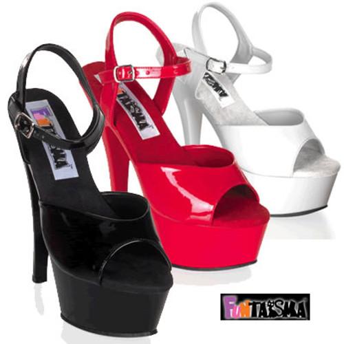 JULIET-209, 6 Inch Spike High Heel with 1.75 Inch Platform Sandal Made by FUNTASMA
