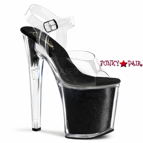 XTREME-808G, 8 Inch Ankle Strap Glitters