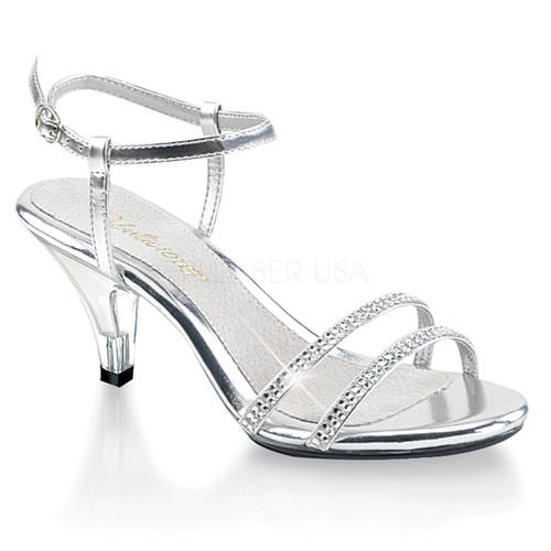 Belle-316, 3 Inch Heel Ankle Strap Sandal Sizes: (5 - 16)