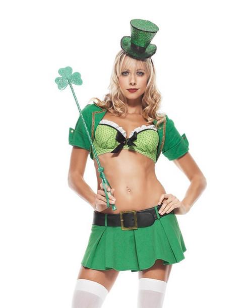 LA-53073, Sexy 2PC. Charmed Leprechaun Costume