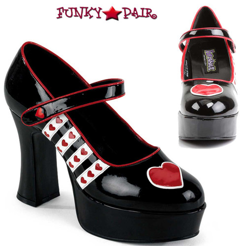 Funtasma | QUEEN-55, Queen of Hearts Platform Costume Shoes