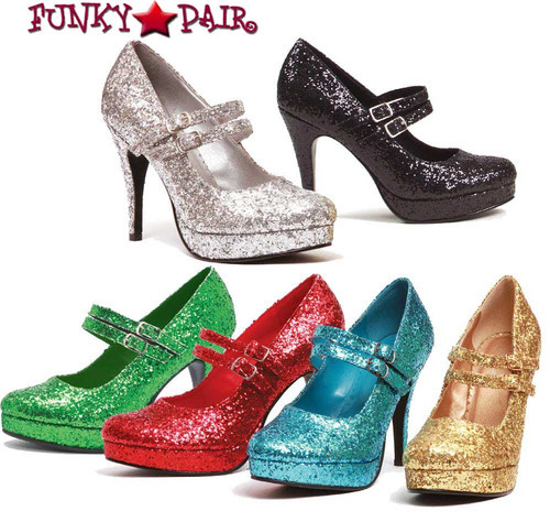 "4"" Mary Jane Glitter Pump | Ellie Shoes 421-Jane-G"