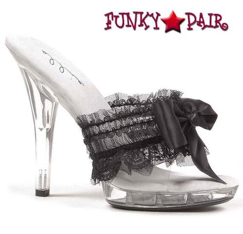 Black M-Cutie, 5 Inch Mule with Bow Ellie shoes