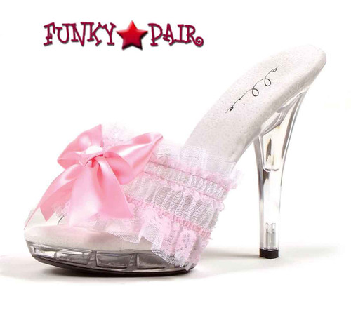 Pink M-Cutie, 5 Inch Mule with Bow Ellie shoes