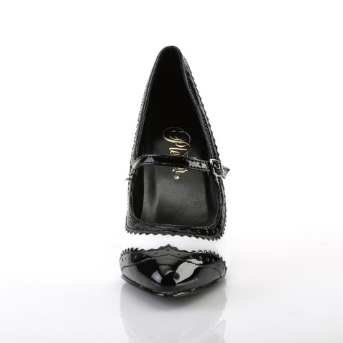 Vanity-442, 4 Inch Heel Spectator Mary Jane Shoe by Pleaser Front View