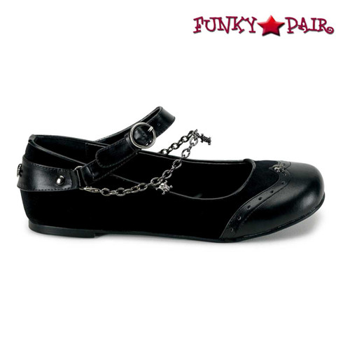 Demonia Shoes DAISY-07, Goth Punk Ballet Flat