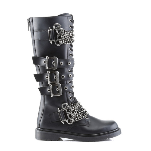 Demonia | Men Defiant-402, Brass Knuckles Combat Boots