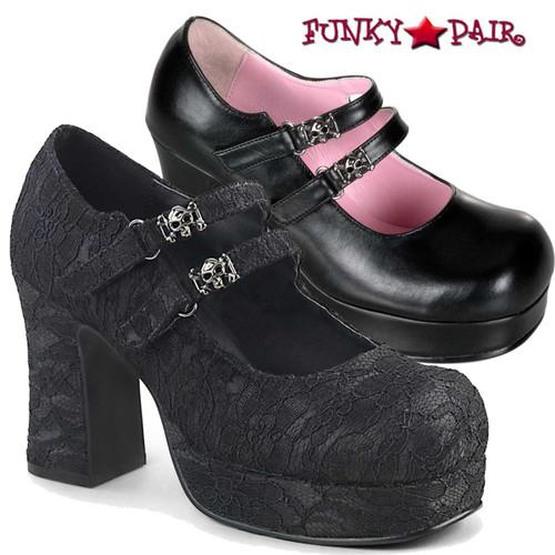 Demonia Shoes | Goth Punk Mary Jane | Gothika-09