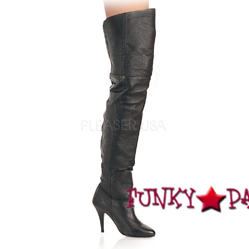 LEGEND-8868, 4 Inch brown thigh high boots  sz 6-16 * Made by PLEASER Shoes
