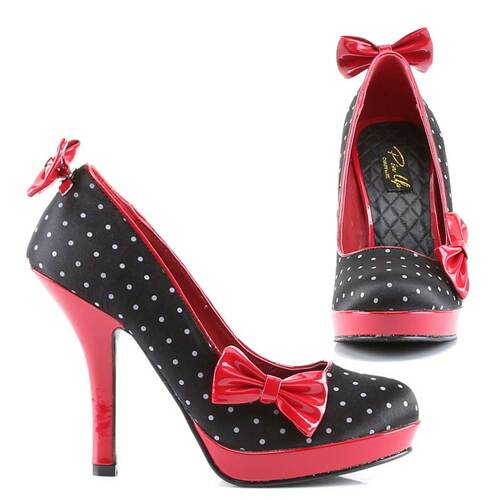 Pin-Up Couture   Secret-12, Pump with Clip on Bows