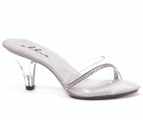 305-Jesse, 3 Inch High Heel Clear Wedding Shoes Made By ELLIE Shoes