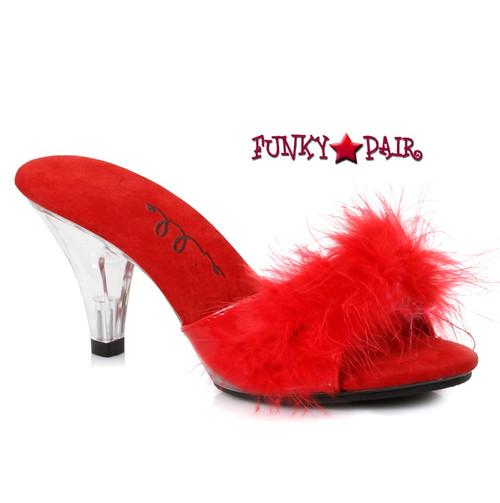 3b2c757888f 3.5 Inch High Heel Marabou Slipper   361-Sasha