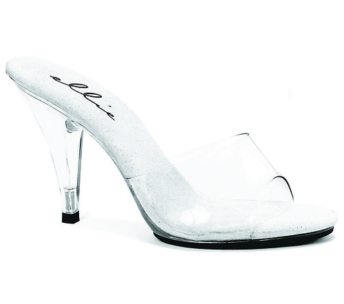"""Ellie Shoes   405-Vanity 4"""" Heel Clear Shoes"""