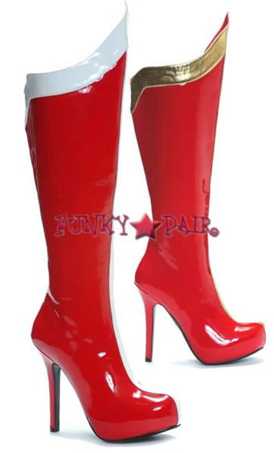 517-Comet * 5 Inch Knee high platform super hero boot