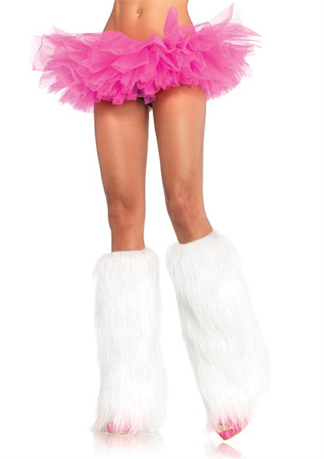 LA-3923, Rave Furry Bootcover with Silver