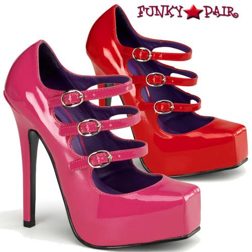 Devious   Bondage-03, Platform Square Toe Mary Jane Shoes