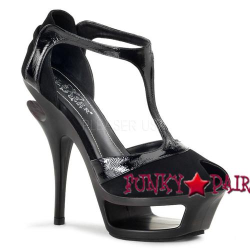 Pleaser | Deluxe-682, T-Stap Peep Toe Sandal