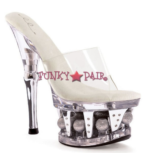 629-VANITY, 6 Inch High Hee with 1.75 Inch Platform Made by ELLIE Shoes