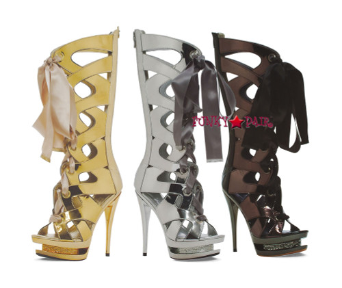 603-TEAGAN, 6 Inch Stiletto High Heel with 1.75 Inch Platform Calf Boot * Made by ELLIE Shoes