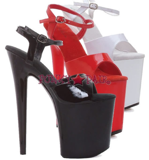 850-JULIET, 8 Inch Stiletto High Heel with 3.75 Inch Platform Ankle Strap Made By ELLIE Shoes