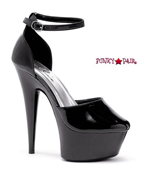 609-Bess, 6 Inch High Heel with 1.75 Inch Platform Fetish Stilletto Shoes Made by ELLIE Shoes