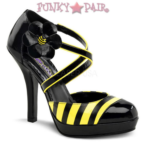 Buzz-68, 4.5 Inch High Heel Daisy Shoe