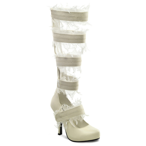 "Mummy-100, 4.5"" Zombie Strappy Heel Costume Sandal by Funtasma"