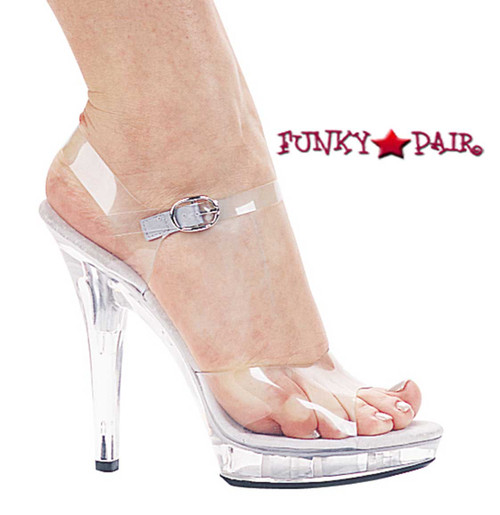 Ellie Shoes   M-Brook, 5 Inch High Heel Clear Wedding Shoes
