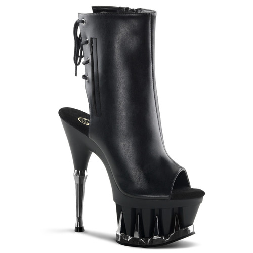 Pleaser | Spiky-1018, Peep Toe Ankle Boots