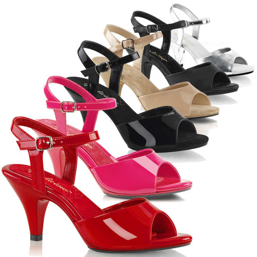 Bell-309, 3 Inch Heel Ankle Strap Sandal Made By PLEASER Shoes