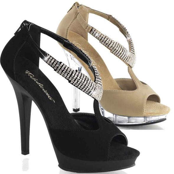 "Lip-155, 5"" Rhinestones Sandal | Fabulicious"
