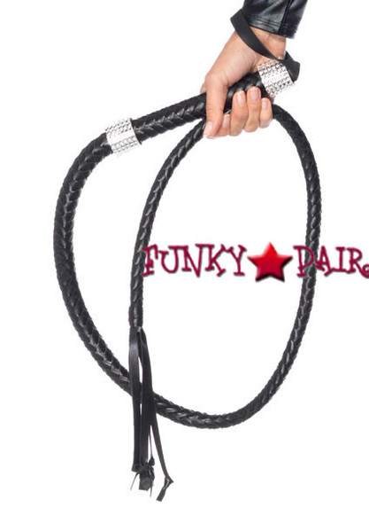 2626, Faux Leather Rhinestone Whip