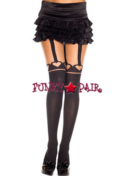 ML-7173, Heart and Suspender Pantyhose