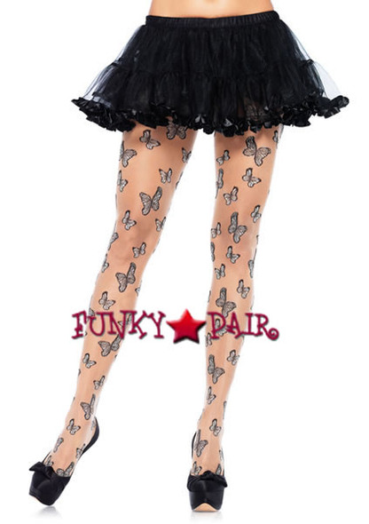 LA-7910, Butterfly Sheer Pantyhose