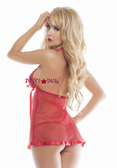 SL4512, Sweet Suspence Babydoll red