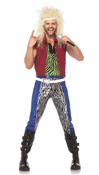 LA-85323, 80's Rock God Men Costume
