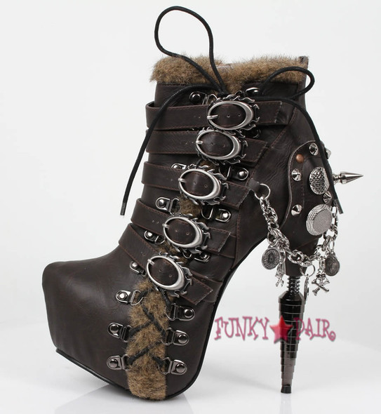 Adler, 6 Inch Steam Punk Booties