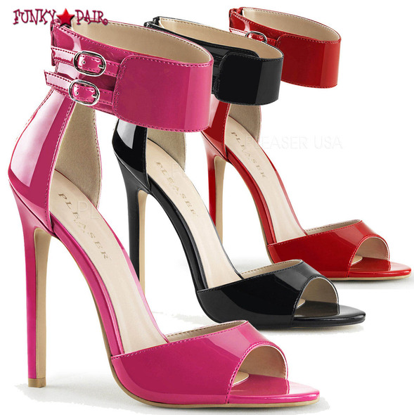 Pleaser | Sexy-19. Dual Buckled Ankle Strap Sandal