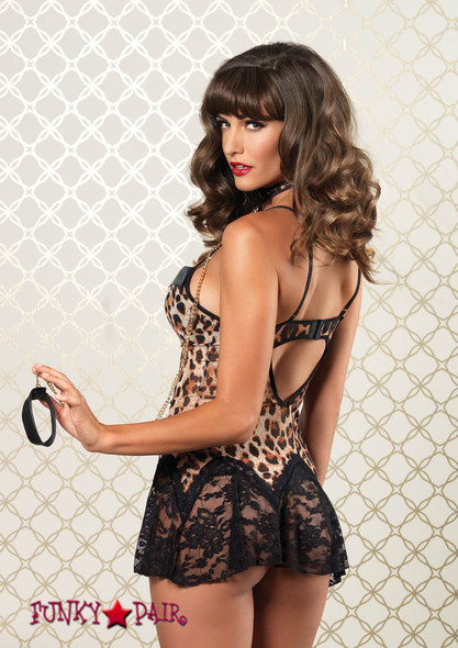 86600, Underwire Animal Print Chemise