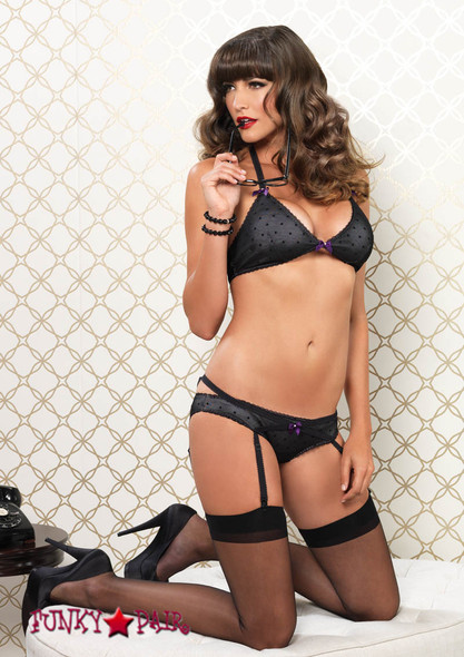 81476, Dot Halter Top with Panty