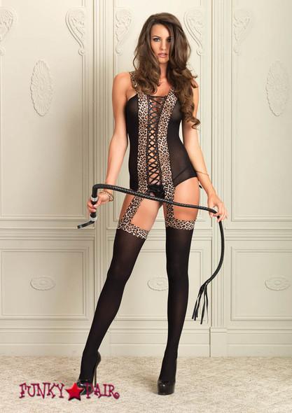 89131, Reversible Opaque Suspender Bodystocking