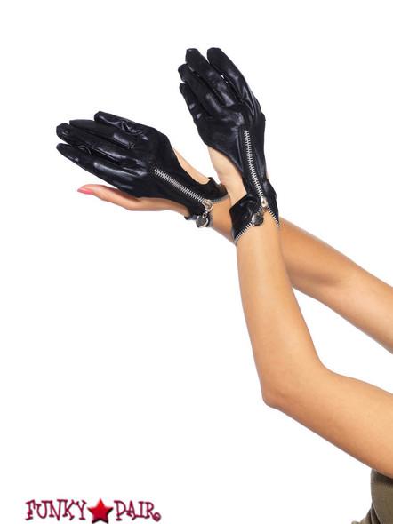 3738, Zipper Cut out Gloves