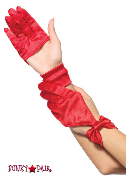 3737, Satin Cut out Gloves
